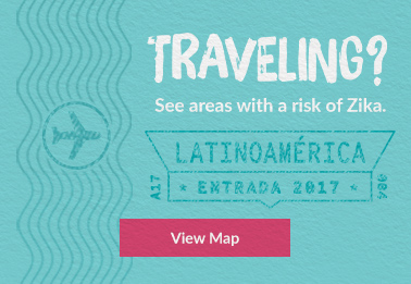 Traveling? See areas with a risk of Zika. View Map