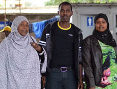 Amina with her two children Mohamed and Sundes. Twelve years after fleeing her homeland of Somalia, she is settling into a permanent home.