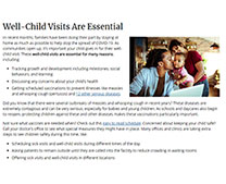 web page on well-child visits