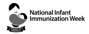 Black and white English - National Infant Immunization Week
