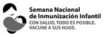 Black and white Spanish - National Infant Immunization Week April 21-28, 2012