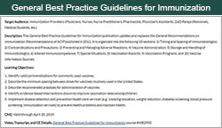 General Best Practice Guidelines for Immunization Continuing Education.