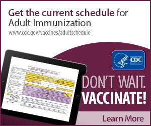 Adult vaccine schedule.