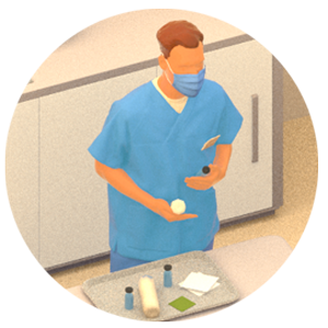 Illustration of healthcare worker.