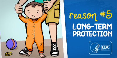 Reason #5: Long-Term Protection, parent helping a child learn to walk