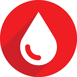 Blood drop sign icon.