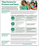 Tdap vaccine for preteens and teens.