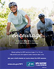 HPV poster: You encourage a lifetimie of healthy choices, from bike helmets to exercise.