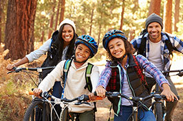 pre-teens and teens on bikes