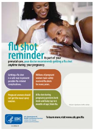 Flu shot reminder flyer