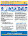 Flyer: Vaccines for Children: Information for Healthcare Providers