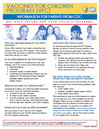 Flyer: Vaccines for Children: Information for Parents