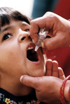 Polio iradication program, India