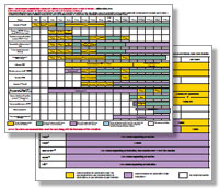 image of schedules for adult and child vaccines