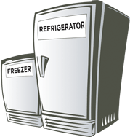 Image of a refrigerator and a freezer.