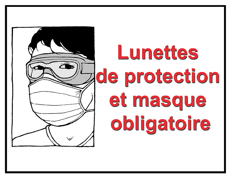 Mask and goggles mandatory in French