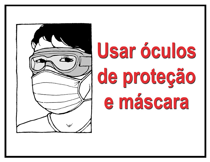 Mask and goggles mandatory in Portuguese