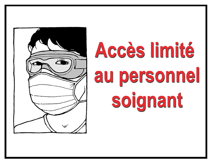 Health care workers only in French