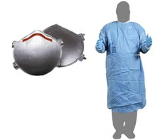 N95 Respirator & Gown