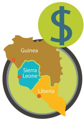 cost of ebola in Guinea, Sierra Leone, and Liberia