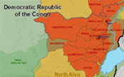 A map of the Eastern Democratic Republic of the Congo