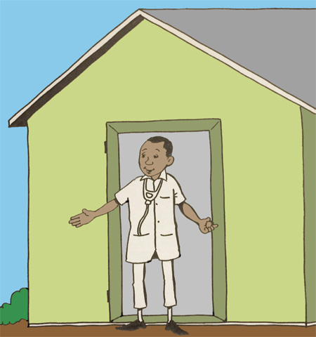 Illustration - rural clinic