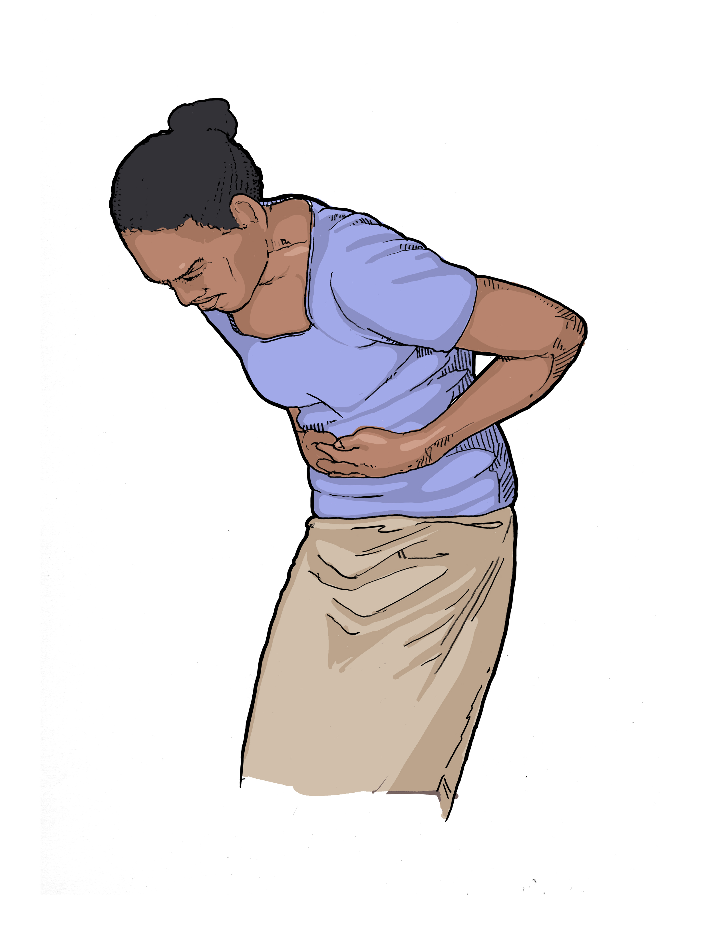 Symptoms: Stomach pain