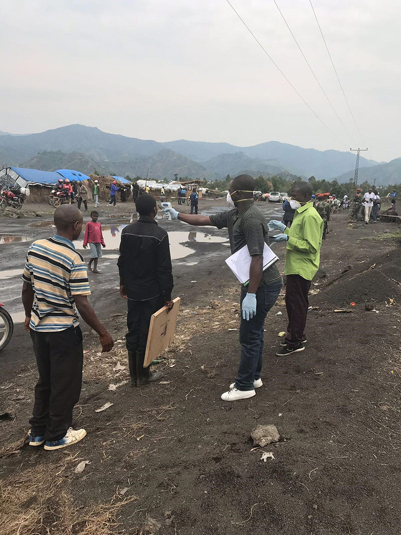 Ebola screening at the border in Goma