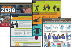 poster, factsheet, publication covers from the resource section of the website