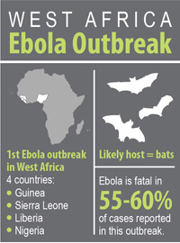 Tây Phi Outbreak Infographic