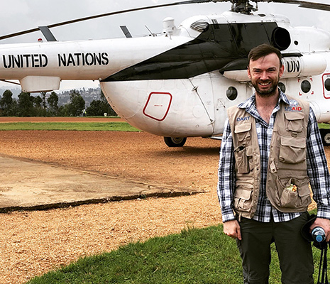 CDC's John Saindon returns to Goma after a trip via UN helicopter to Butembo, in the eastern Democratic Republic of Congo