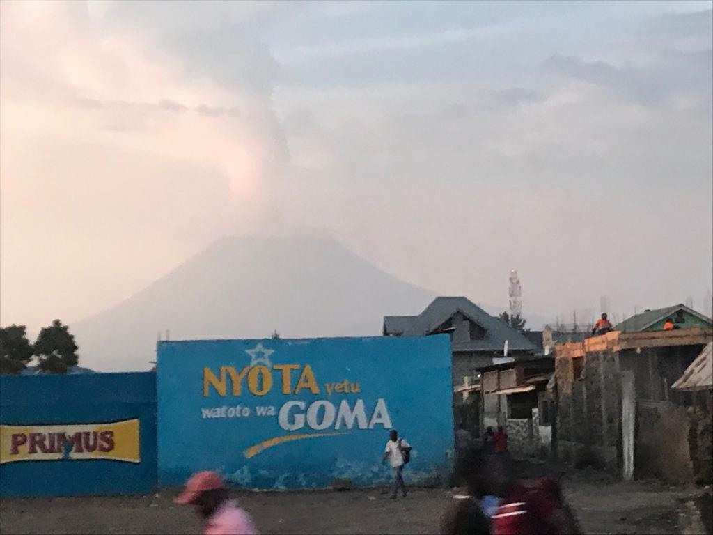 A cloud over a volcano