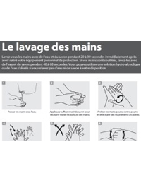 Poster: Hand Washing for African Health Workers (French)