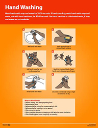 Poster: How to Wash Hands - African Audiences (Sink)