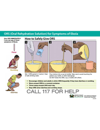 Poster: How to Safely Give ORS (1 Liter)