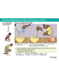 Poster: How to Safely Give ORS 1 Liter (Guinea)