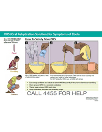 Poster: How to Safely Give ORS (Liberia)