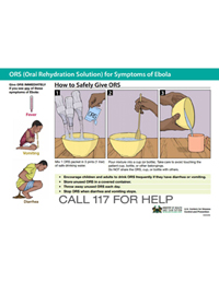 Poster: How to Safely Give ORS (Sierra Leone)