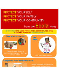 Poster: What to do if you have signs of Ebola