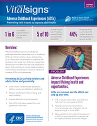 Vital Signs Fact Sheet: Adverse Childhood Experiences