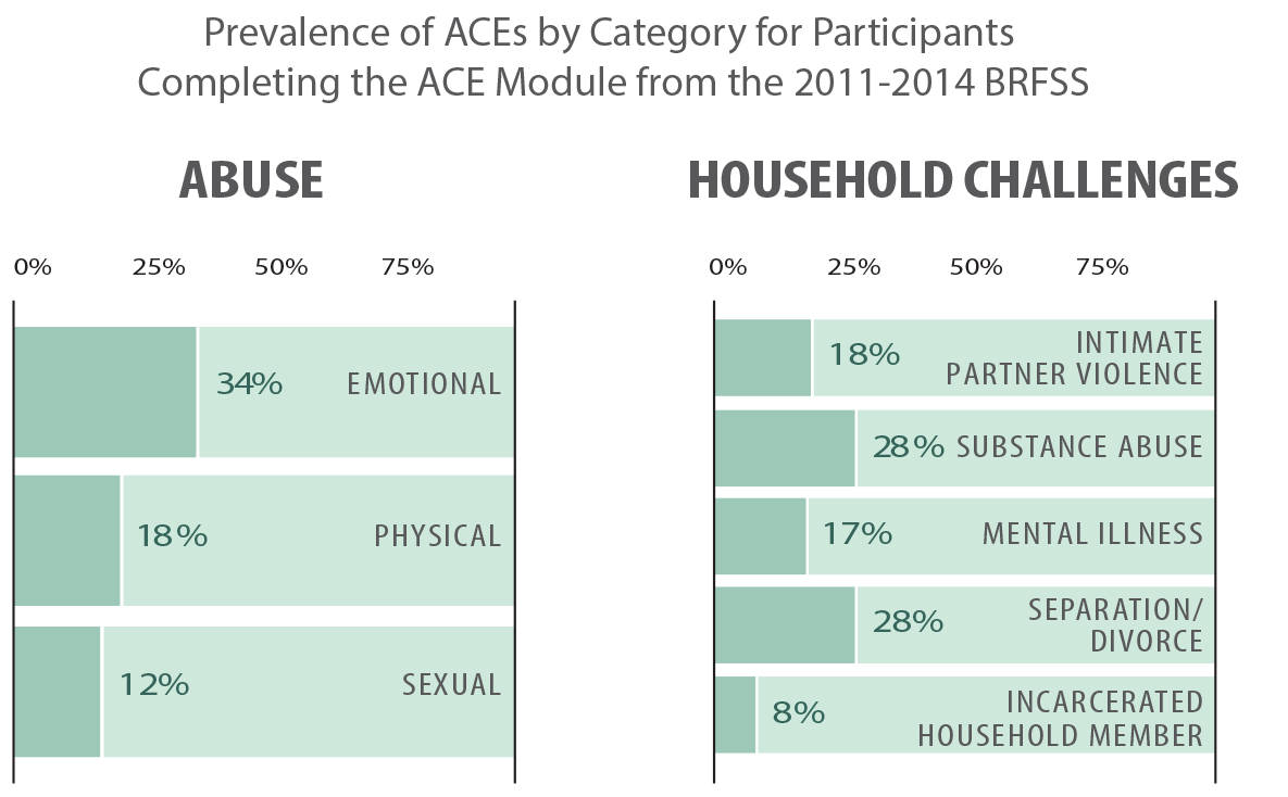 prevalence of aces by category abuse household challenge