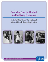 Suicides due to alcohol and/or drug overdose