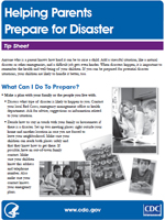 Helping Parents Prepare For Disaster, cover