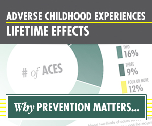 Adverse Childhood Experiences.  Find out how they affect our lives and society.