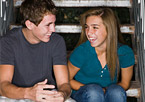 Teens laughing