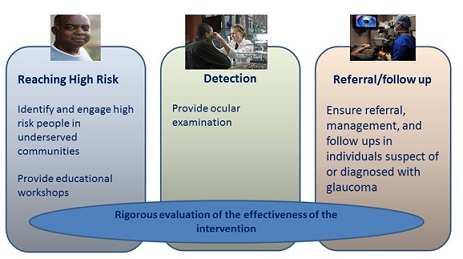 Glaucoma Project Components - Community-based Intervention