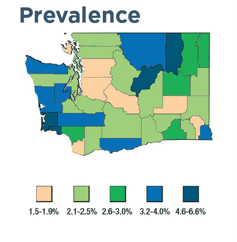 Washington prevalence map