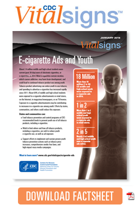 Download Factsheet: E-cigarette Ads and Youth