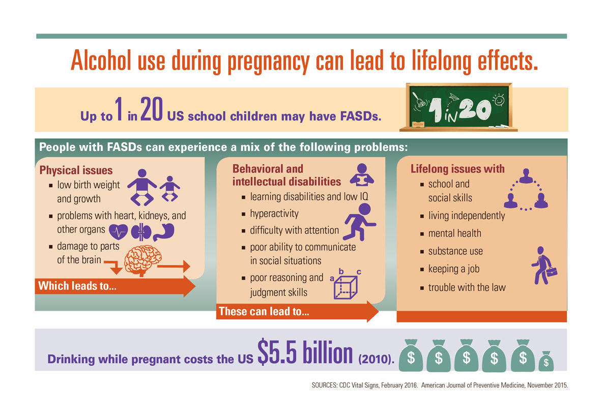 the effects of alcohol on pregnant women This is the first study to investigate the effects of alcohol consumption during pregnancy on alcohol-related behavior (consumption and sensitivity to the effect of.