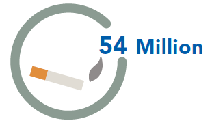 54 Million adult smokers